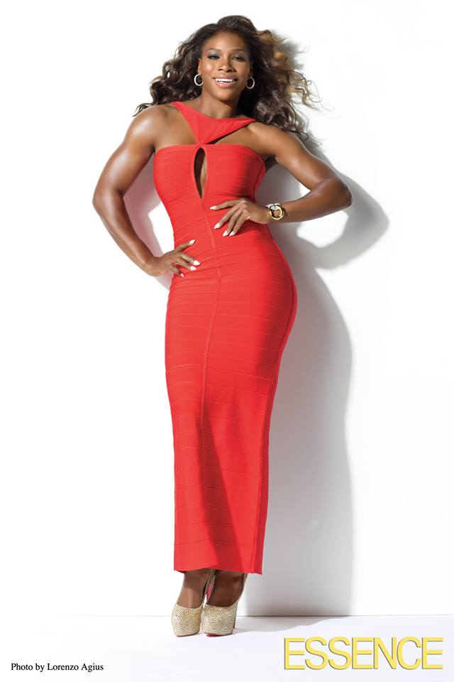 Serena Essence Red Dress July 2013 Body Issue Blinging